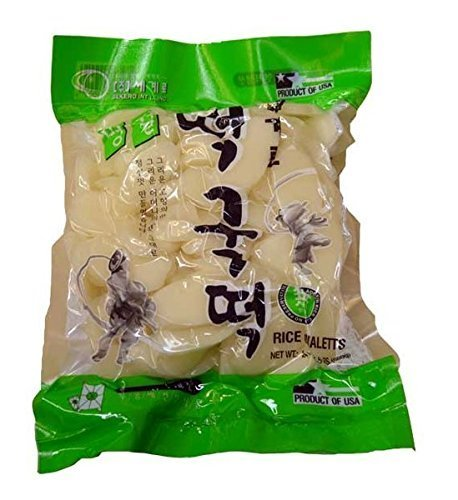 Sekero rice cake,Korean rice cake, Rice Ovaletts, 24oz/pk (Pack of 1)