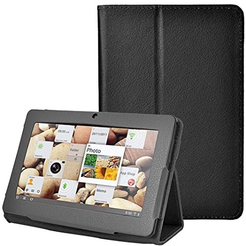 Mchoice Folio Stand Faux Leather Flip Protection 7Inch Tablet Case For Android TabltQ88 (Black) (Furniture Brands Upscale)