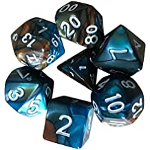 7pcs/Set D4-D20 Multi Sided Acrylic Dice Dragons Polyhedral TRPG Game Dungeon Toys