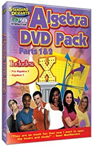 The Standard Deviants - Algebra Intro DVD 2-pack (Pre-Algebra 1, Algebra 1)