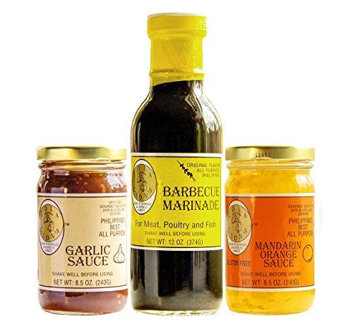 - Lola Cion's Variety Pack | BBQ Marinade, Garlic Sauce & Mandarin Orange Sauce.