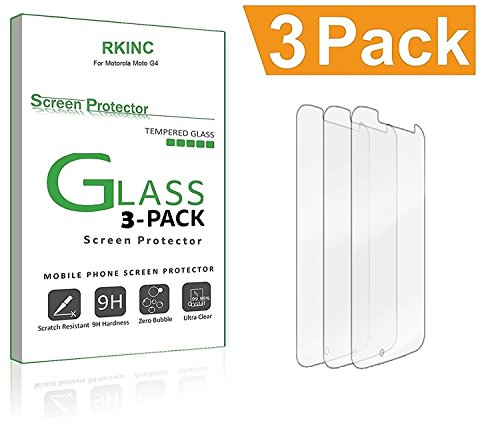 [3-Pack] RKINC for Samsung Galaxy J7 V / J7V (Verizon) Tempered Glass Screen Protector, Anti-Scratch, Anti-Fingerprint, Bubble Free, Lifetime Replacement Warranty