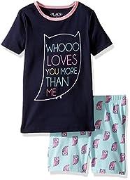 The Children\'s Place Little Girls\' Owl Love Sleepwear, Owl (Tidal), 6
