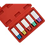 """ABN 1/2"""" Inch Impact Drive Lug Nut Socket 5-Piece Set – Non-Marring, Color-Coded, Thin-Walled Wheel Rim Protectors"""