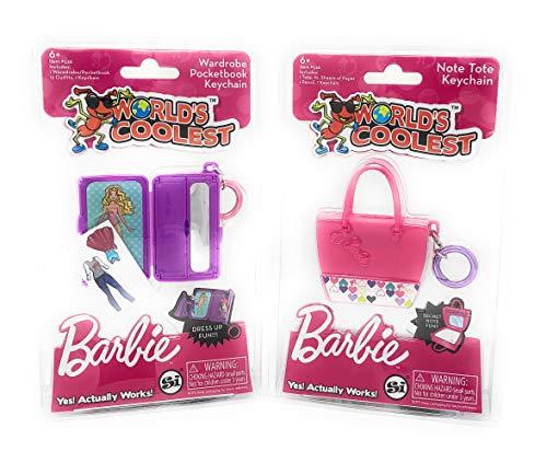 World's Coolest Barbie 2 Pack Keychain Set Bundle