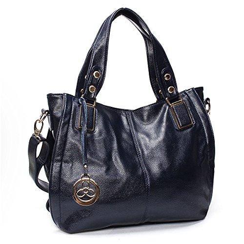 Tracolla Bag A Tote In Brown Pelle Mano Morbida Donne Ourbag Borse Blu Scuro tqSaf