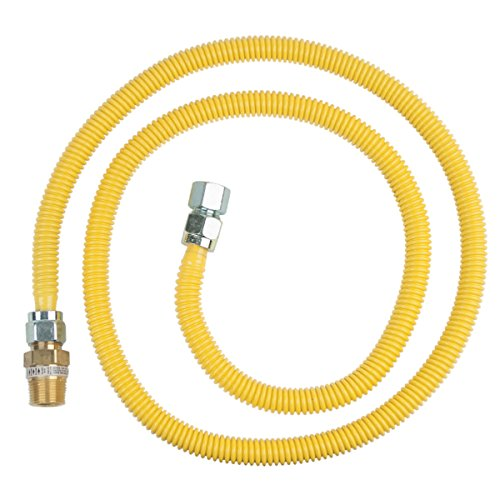 Brasscraft Cssc12R72 P Safety Plus Gas Appliance Connector With 5/8'' Od Efv And 3/4'' Mip x 3/4'' Fip x 72'' by BrassCraft