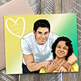 Personalized Hand Drawn Portrait - Creative Happy Mothers Day Gifts - Whimsical Ooak Ideas For Mom From Son