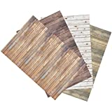 Ella Bella Photography Backdrop Paper, Assorted Wood (1 ea.: Vintage, Sable, Rustic & White Washed), 48 x 12, 4 Rolls