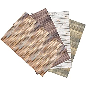 Pacon 2506Ella Bella Photography Backdrop Paper, 4-feet by 12-feet, 4 Assorted Wood Designs