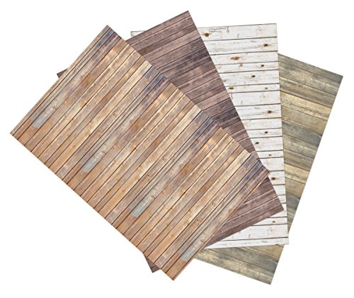 Ella Bella Photography Backdrop Paper, Assorted Wood (1 ea.: Vintage, Sable, Rustic & White Washed), 48