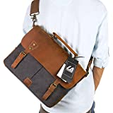 Langforth Leather Vintage Canvas Laptop Bag, 13