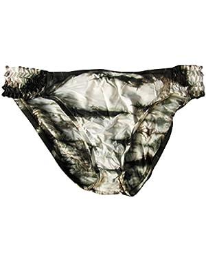 Summer Lovin' Tie Die Hipster Bikini Bottoms Mink Women's
