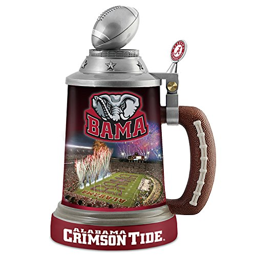University of Alabama Crimson Tide Porcelain Stein with Team Logos