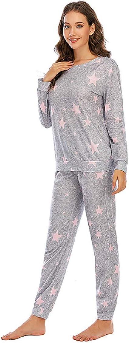 DUOMI Europese y Amerikaanse herfst en Invierno nuevo Pijama ...
