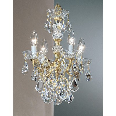 Classic Lighting 5544 OWB SC Madrid Imperial, Crystal Cast Brass, Mini-Chandelier, Olde World Bronze