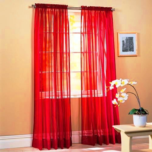 Sheer Tailored Curtain Panel (SET OF 2, 84
