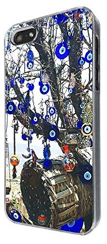 802 - Multi Evil Eye arabic Art Design iphone 5 5S Coque Fashion Trend Case Coque Protection Cover plastique et métal