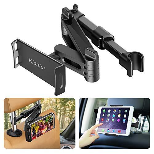 Car Headrest Mount/Tablet Holder Car Backseat Seat Mount/Tablet Headrest Holder Universal 360° Rotating Adjustable for All 6