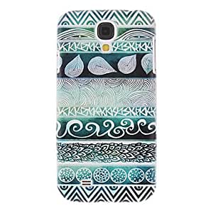 Gt Green Stripes Painting Pattern Plastic Hard Back Case Cover for Samsung Galaxy S4 I9500
