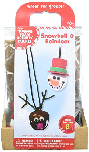 Darice Snowman and Reindeer Bell Kit Seasonal Décor