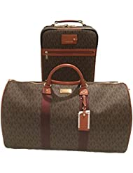 Michael Kors Trolley and Weekender Bag Luggage Set 2pcs