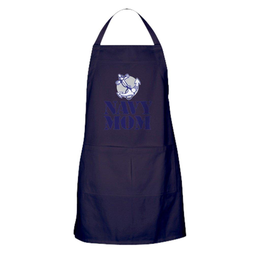CafePress - Navy Mom - キッチンエプロン ポケット付き グリルエプロン ベーキングエプロン   B077WHLYZM