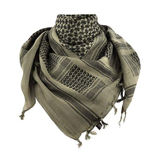 M-Tac Shemagh Tactical Desert Head Neck Scarf Men Military Army Cotton Wrap (Foliage Green - - Mens Wear Scarf