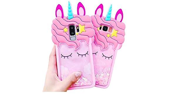 Amazon.com: 3D Pink Bling Unicorn Dynamic Quicksand Cute ...