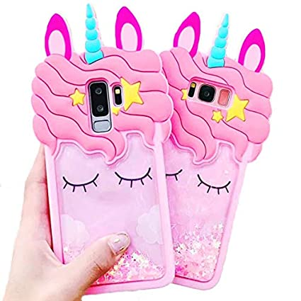 Amazon.com: 3D Pink Bling Unicorn Dynamic Quicksand Cute ...