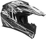 Vega Helmets MIGHTY X Kids Youth Dirt Bike Helmet – Motocross Full Face Helmet for Off-Road ATV MX Enduro Quad Sport, 5 Year Warranty (Black Blitz Graphic,Medium)