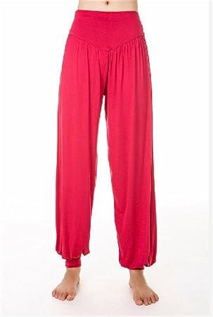 LaBelle-Pantalón Bombacho Pantalón de Yoga Mujer Pantalones Anchos Pantalones de Deporte Danza Jogging
