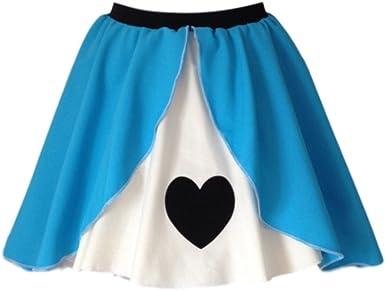 Ladies Queen of Hearts Panel Skater Skirt Wonderland Fancy Dress