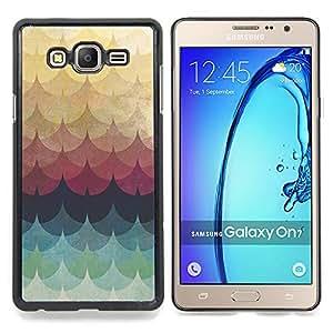Stuss Case / Funda Carcasa protectora - Patrón del trullo amarillo Líneas Waves - Samsung Galaxy On7 O7