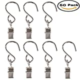 Mydio 50 Pack Stainless Steel Curtain Clip String Party Light and Outdoor Activities Wire-Party Supplies(50 Pack)