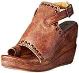 bed stu Women's Joann Wedge Sandal, Teak Driftwood, 9 M US