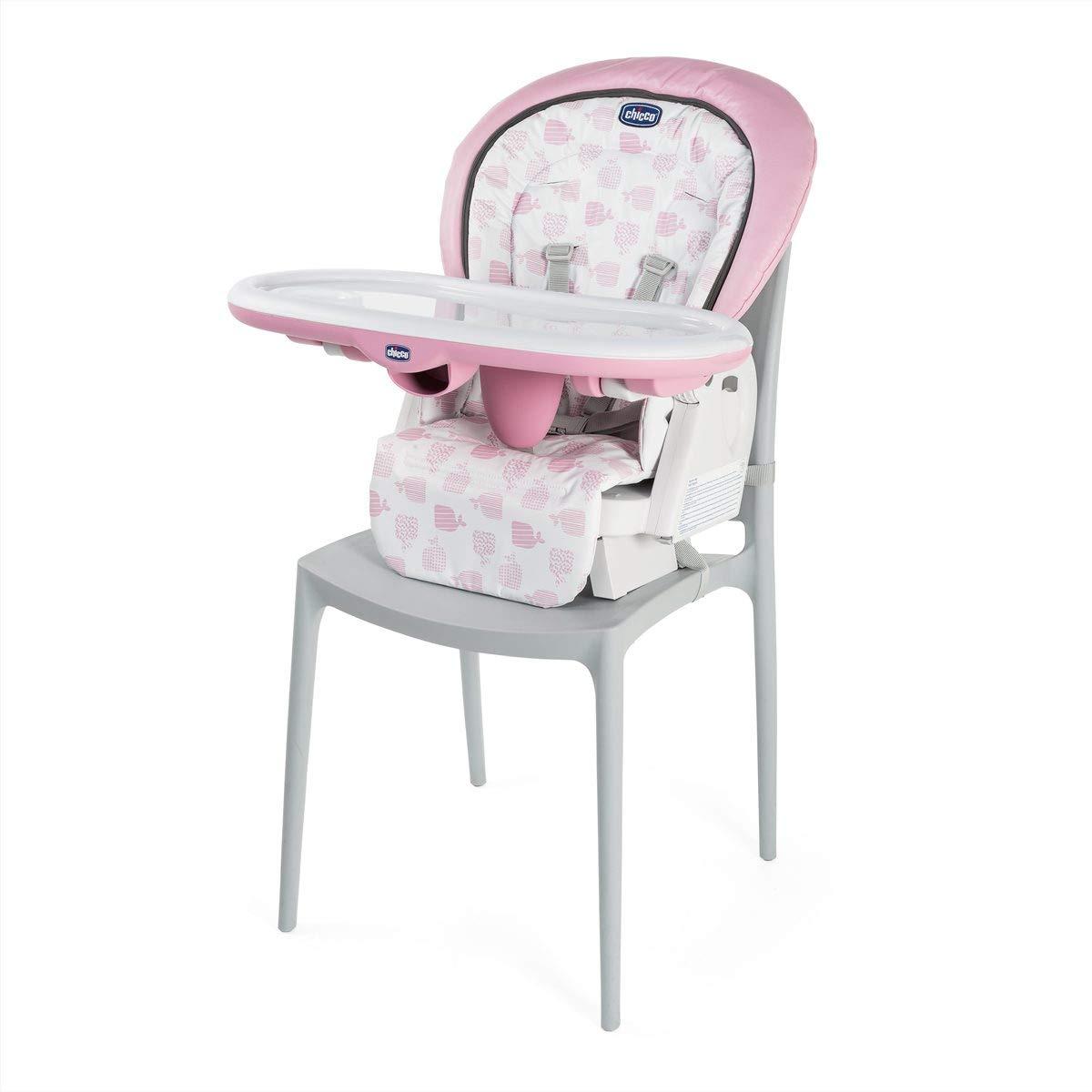 Chicco Chicco Polly Progres5 12400 g Pink 0 bis 3 Jahre mit 4 Rollen und Bremse verstellbar kompakt Hochstuhl 1 St/ück Rosa bedruckt mit B/ällen