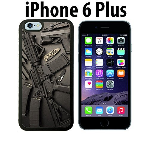 Nice Weapons Rifle Guns Ammo Custom made Case/Cover/skin FOR iPhone 6 Plus - Black - Rubber Case ( Ship From CA)