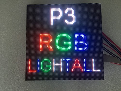 Lumen P3 RGB LED Module Programmable 192x192 Full Color SMD LED Matrix Panel 1/32 Scan Indoor LED Sign Accessories For Assembling and Repairing LED Display Screen or Video Wall1 pc