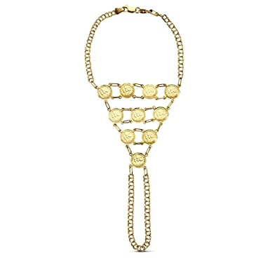 18k Goldarmband 17cm Indische Münzen 1085gr Ab3420 Amazonde