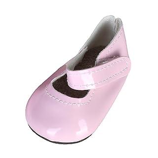 T TOOYFUL Bambole Fashion Accessori Pattini Cuoio Appiccicosa Cinghia Scarpa Moda Stile - Rosa