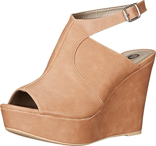 Michael Antonio Women's Alley Dark Nude Sandal 10 - Dark Nude Black