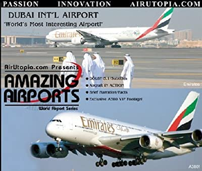 AirUtopia : Dubai Airport- Emirates First A380 Airport Video DVD-(Airport, airliner, plane, airplane, aircraft FILM)
