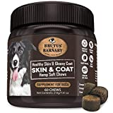 BRUTUS & BARNABY Omega 3 Fish Oil for Dogs - Easy to Deliver Skin and Coat Soft Chew, Coconut Oil, EPA,DHA ; Dog Skin Allergy Treatment for Itch-Free Skin, Increases Shiny Coat, Vitamin C & E