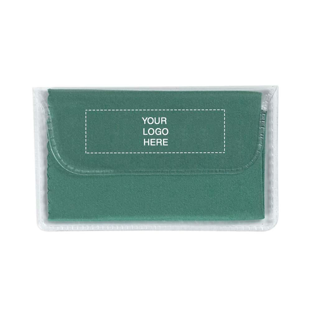 Microfiber Cleaning Cloth in Case | 250 Qty | 0.96 Each | Customization Product Imprinted & Personalized Bulk with Your Custom Logo Green by Promo Direct