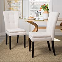 Christopher Knight Home 300402 Badin Dining Chair (Set of 2), Beige