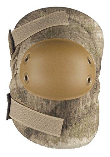 ALTA 53010.18 AltaFLEX Elbow Protector Pad, A-TACS AU Cordura Nylon Fabric, AltaGrip Fastening, Flexible Cap, Round, Coyote