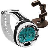 Cressi Leonardo Dive Computer, Scuba Diving Instrument w/ Watch Stand or GupG Reg Bag (Black / White)