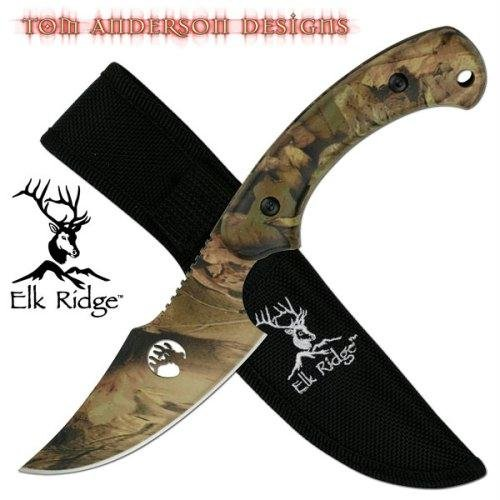 Elk Ridge TA-28 Fixed Blade Knife 8-Inch Overall Designed by Tom Anderson ()