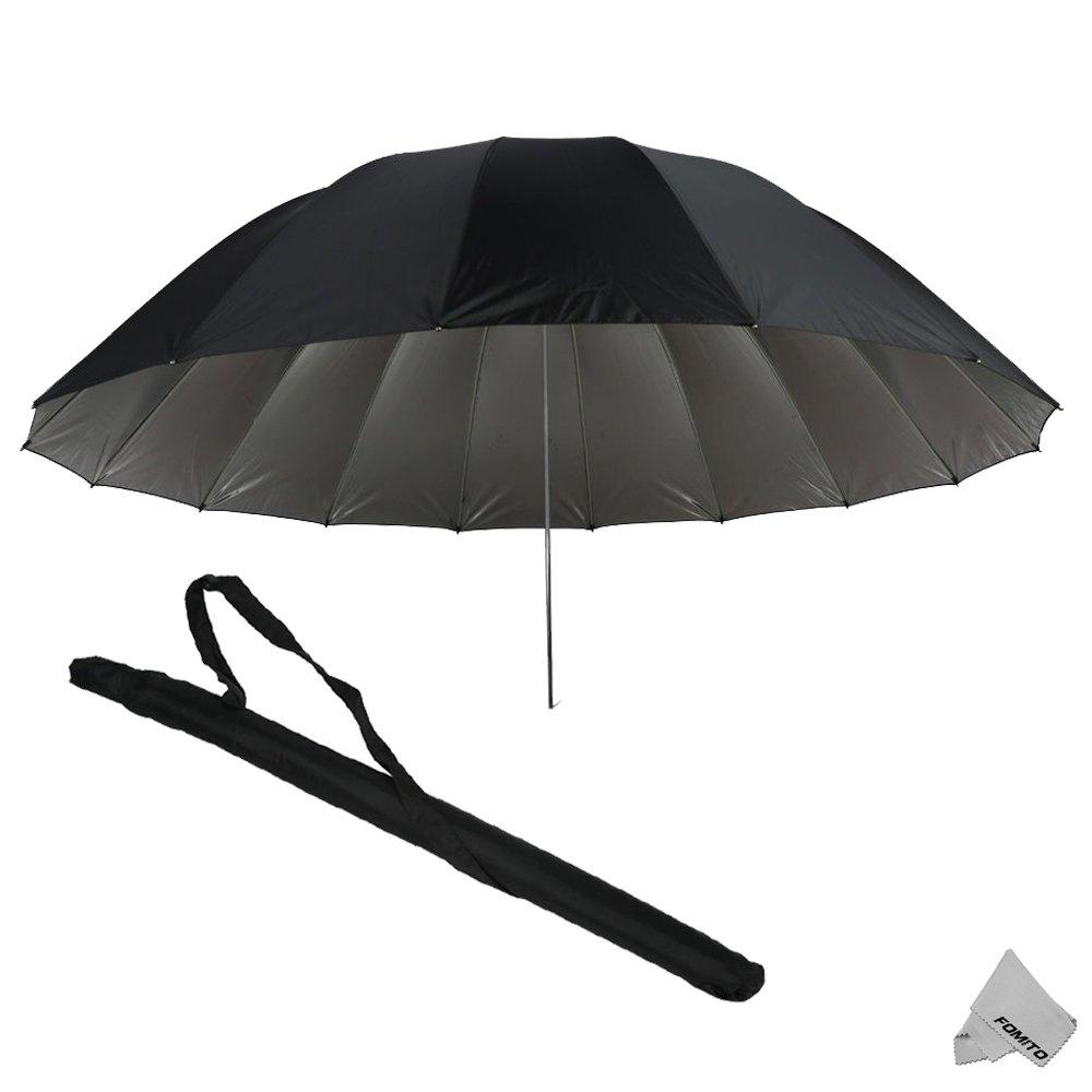 Fomito 7 feet Mega Parabolic Flash Reflector Umbrella Silver